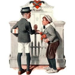 """Giclee Print: """"Rivals"""", September 9,1922 Art Print by Norman Rockwell by Norman Rockwell: 24x18in"""