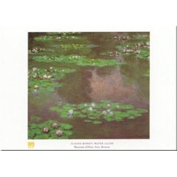 Art Print: Water Lilies by Claude Monet: 20x28in found on Bargain Bro from Art.com for USD $22.80