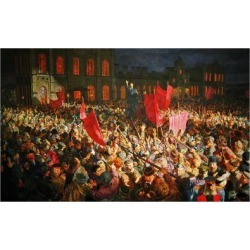 Giclee Print: Lenin's Arrival at the Finland Station in Petrograd on April 16, 1917: 18x12in