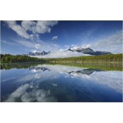 Art Print: Clouds Reflected in Herbert Lake by Mike Grandmaison: 30x40in found on Bargain Bro India from Art.com for $37.00