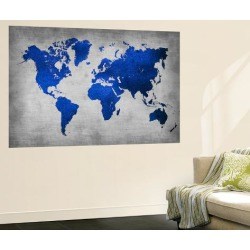 Wall Mural: World Map 10 by NaxArt: 72x48in