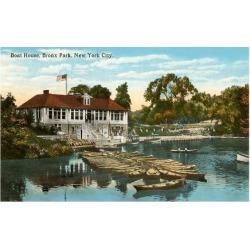 Art Print: Boat House, Bronx Park, New York City Poster: 16x12in