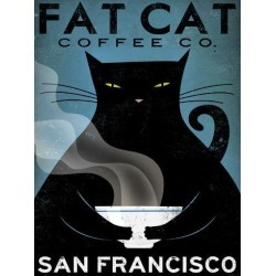 Art Print: Cat Coffee by Wild Apple Portfolio: 24x18in