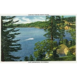 Art Print: Lake Arrowhead, California - View Towards the North Shore, c.1949 by Lantern Press: 24x18in found on Bargain Bro India from Art.com for $35.00