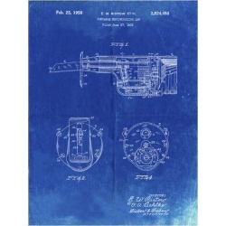 Giclee Print: PP996-Faded Blueprint Portable Reciprocating Saw Poster by Cole Borders: 24x18in