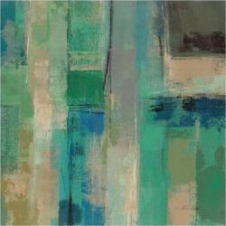 Art Print: Emerald Fields Square II by Silvia Vassileva: 16x16in