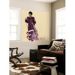 Wall Mural: Ella Fitzgerald - The Concert Years Wall Decal: 48x48in