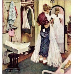 Giclee Print: Dresses Art Print by Norman Rockwell by Norman Rockwell: 16x16in