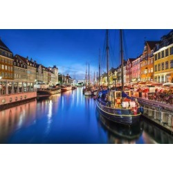 Photographic Print: Copenhagen, Denmark on the Nyhavn Canal. by SeanPavonePhoto: 24x16in