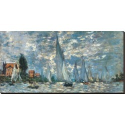 Stretched Canvas Print: Regatta in Argenteuil by Claude Monet: 22x44in found on Bargain Bro from Art.com for USD $178.60