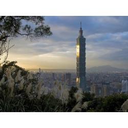 Photographic Print: Taipei 101 Skyscraper, Taipei, Taiwan Poster by Michele Falzone: 24x18in