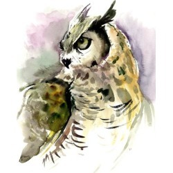 Giclee Print: Horned Owl 2 by Suren Nersisyan: 40x30in found on Bargain Bro Philippines from Art.com for $159.99