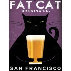 Art Print: Cat Brewing by Wild Apple Portfolio: 24x18in