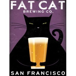 Art Print: Cat Brewing by Wild Apple Portfolio: 32x24in