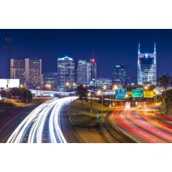 Photographic Print: Downtown Nashville, Tennessee, Usa. by SeanPavonePhoto: 24x16in
