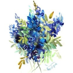 Art Print: Blue Flowers by Suren Nersisyan: 16x12in found on Bargain Bro from Art.com for USD $15.20
