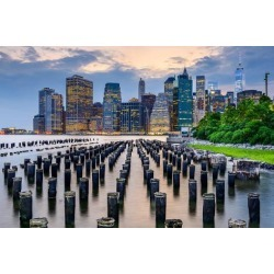Photographic Print: New York City, USA City Skyline on the East River. by SeanPavonePhoto: 24x16in