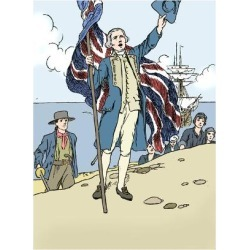 Giclee Print: 'Captain Cook Landing in Australia', 1912 by Charles Robinson: 24x18in