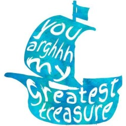 Art Print: My Greatest Treasure by Color Me Happy: 12x12in