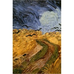 Giclee Print: Wheatfield with Crows, (Detail) 1890 by Vincent van Gogh: 24x16in found on Bargain Bro from Art.com for USD $19.00