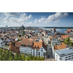 Photographic Print: Rostock, Germany City Skyline. by SeanPavonePhoto: 24x16in