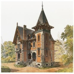 Art Print: Victorian House, No. 9: 9x12in