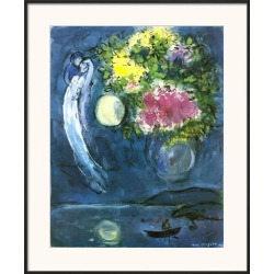Framed Art Print: Lovers with Bouquet, c.1949 by Marc Chagall: 35x29in found on Bargain Bro India from Art.com for $128.00
