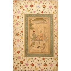 Giclee Print: Akbar's Sons Sultan Daniyal and Sultan Murad, C.1600-1605 (W/C and Gold Paint on Paper) by Manohar: 24x16in