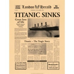 Art Print: Titanic Art Print by The Vintage Collection: 16x12in found on Bargain Bro India from Art.com for $23.00
