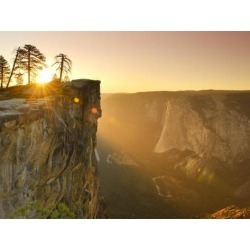 Photographic Print: California, Yosemite National Park, Taft Point, El Capitan and Yosemite Valley, USA by Michele Falzone: 24x18in