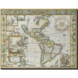 Stretched Canvas Print: Map of America (Imaginaire) by Maria Mendez: 22x28in found on Bargain Bro India from Art.com for $190.00