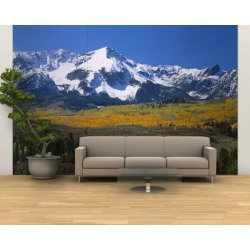 Wall Mural - Large: Mountains Covered in Snow, Sneffels Range, Colorado, USA: 144x96in
