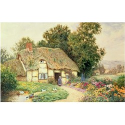 Giclee Print: A Cottage by a Duck Pond by Arthur Claude Strachan: 24x16in found on Bargain Bro Philippines from Art.com for $30.00