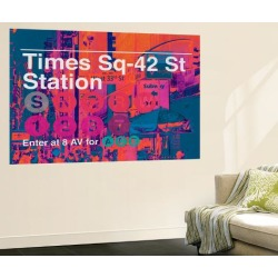Wall Mural: Subway and City Art - Times Square - 42 Street Station by Philippe Hugonnard: 72x48in