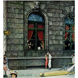"""Giclee Print: """"University Club"""", August 27,1960 Art Print by Norman Rockwell by Norman Rockwell: 16x16in"""