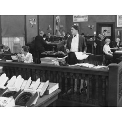 Photo: People Working in Courthouse: 24x18in