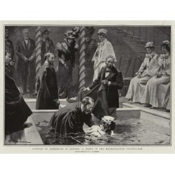 Giclee Print: Baptism by Immersion in London, a Scene in the Metropolitan Tabernacle by Frederic De Haenen: 24x18in