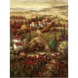 Art Print: Tuscan Village by Hulsey: 17x13in