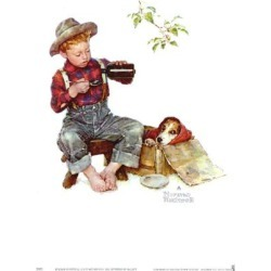 Art Print: Mysterious Malady Art Print by Norman Rockwell by Norman Rockwell: 11x9in found on Bargain Bro India from Art.com for $12.00