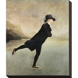 Stretched Canvas Print: Ice Skating Canvas Art by Sir Henry Raeburn: 12x10in found on Bargain Bro from Art.com for USD $64.60