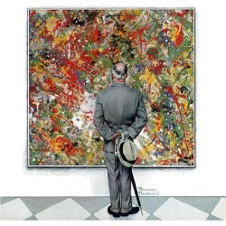 """Giclee Print: """"Art Connoisseur"""", January 13,1962 Art Print by Norman Rockwell by Norman Rockwell: 16x16in"""