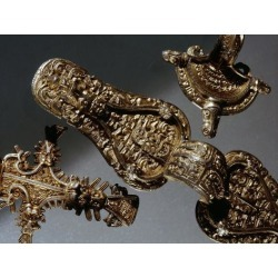 Photographic Print: Gilt-silver Viking brooches, Sweden, Migration period by Werner Forman: 12x9in