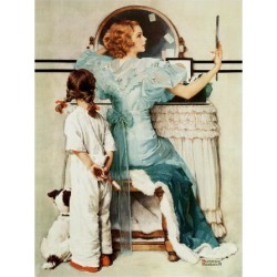Giclee Print: Growing Up Art Print by Norman Rockwell by Norman Rockwell: 16x12in