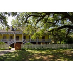 Photographic Print: Laura' Historic Antebellum Creole Plantation House, Louisiana, USA by Cindy Miller Hopkins: 24x16in