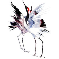 Giclee Print: Japanese Cranes Suren 1 by Suren Nersisyan: 16x12in found on Bargain Bro Philippines from Art.com for $30.00