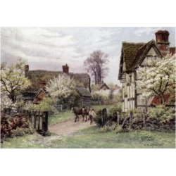 Giclee Print: Farmhouse, Welford-On-Avon, Gloucester by Alfred Robert Quinton: 24x16in found on Bargain Bro India from Art.com for $25.00