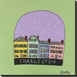 Stretched Canvas Print: Charleston Snow Globe by Brian Nash: 20x20in found on Bargain Bro India from Art.com for $64.00