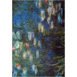 Art Print: Water Lillies Poster by Claude Monet: 16x12in found on Bargain Bro from Art.com for USD $11.40