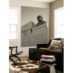 Wall Mural: USA, Alabama, Selma, Civil Rights Struggle Site, Bust of Rev. Martin Luther King, Jr. by Walter Bibikow: 72x48in