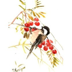 Art Print: Chickadee 12 by Suren Nersisyan: 24x18in found on Bargain Bro Philippines from Art.com for $20.00